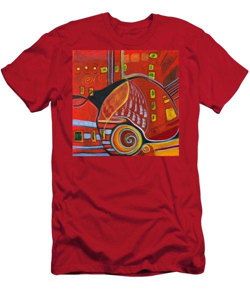 Slow Down Men's T-Shirt (Slim Fit) by Leela Payne