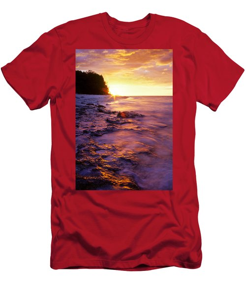 Slow Ocean Sunset Men's T-Shirt (Athletic Fit)