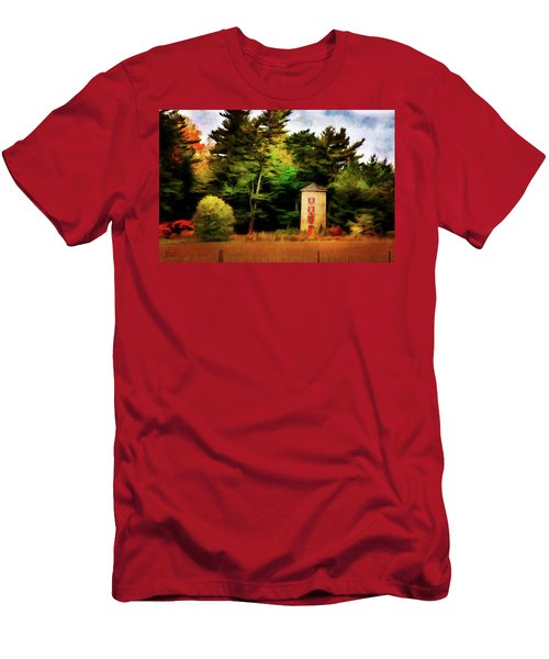 Small Autumn Silo Men's T-Shirt (Athletic Fit)