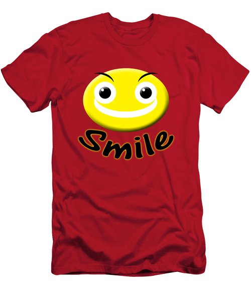 Smile T-shirt Men's T-Shirt (Slim Fit) by Isam Awad