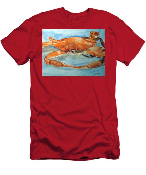 Snow Crab Is Ready Men's T-Shirt (Slim Fit) by Carol Grimes