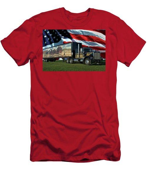 Snowmans Dream Semi Truck Men's T-Shirt (Athletic Fit)