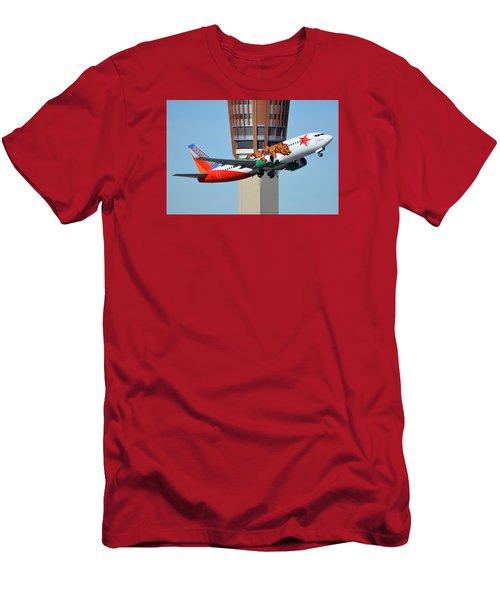 Southwest Boeing 737-3h4 N609sw California One Phoenix Sky Harbor January 21 2016 Men's T-Shirt (Athletic Fit)