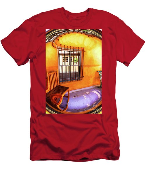Southwestern Porch Distortion With Puple Floor Men's T-Shirt (Athletic Fit)