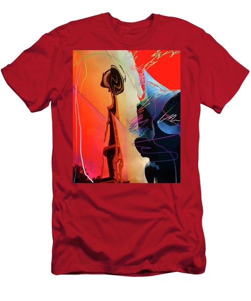 Men's T-Shirt (Athletic Fit) featuring the digital art Space Needle Reflection 1 by Walter Fahmy