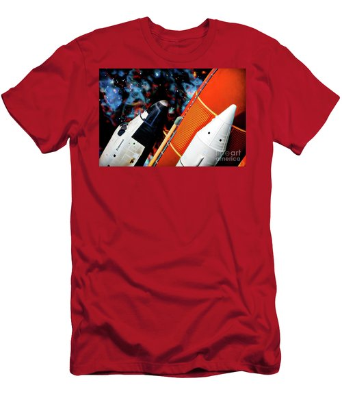 Men's T-Shirt (Athletic Fit) featuring the digital art Space Shuttle by Ray Shiu