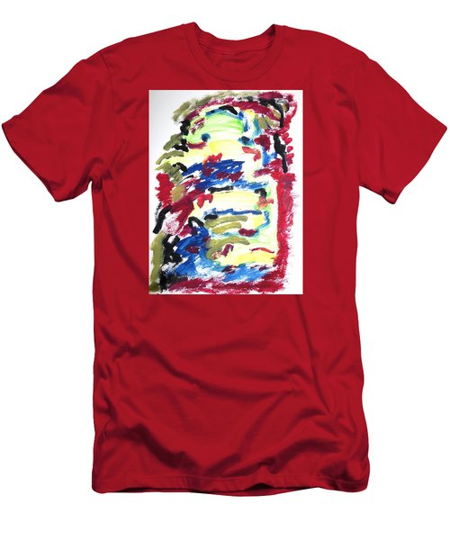 Men's T-Shirt (Slim Fit) featuring the painting Spatial Outwardness by Esther Newman-Cohen