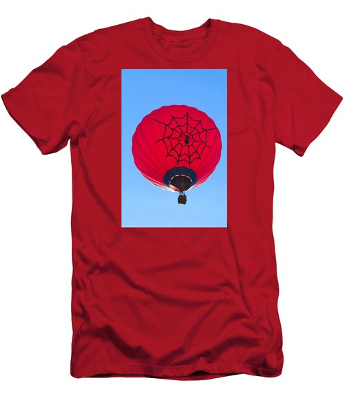 Men's T-Shirt (Slim Fit) featuring the photograph Spiderballoon by Brenda Pressnall