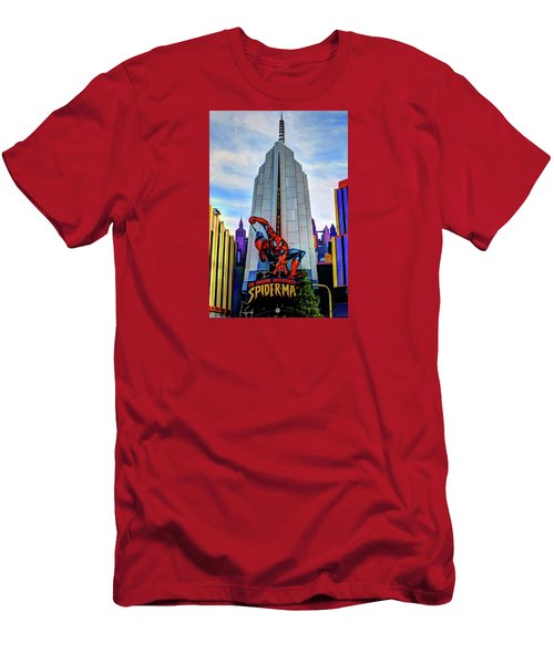 Men's T-Shirt (Slim Fit) featuring the photograph Spiderman by Tom Prendergast