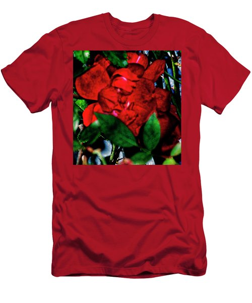 Spirit Of The Rose Men's T-Shirt (Slim Fit) by Gina O'Brien