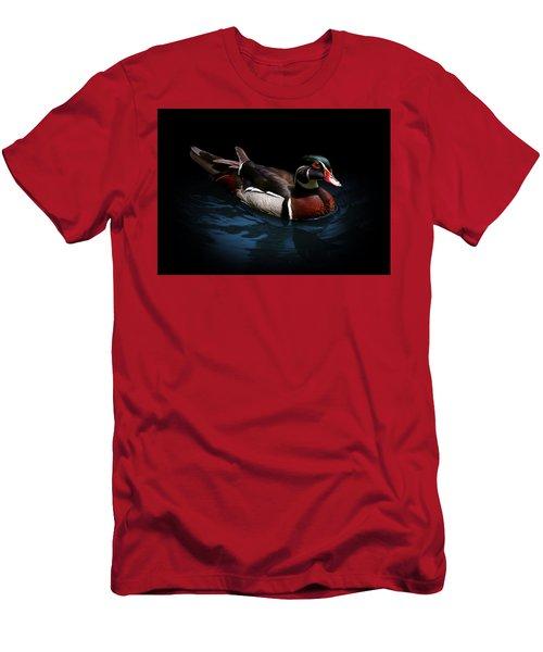 Spotlight On A Wood Duck Men's T-Shirt (Athletic Fit)