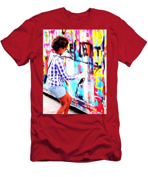 Spray Those Walls In Paris Men's T-Shirt (Athletic Fit)