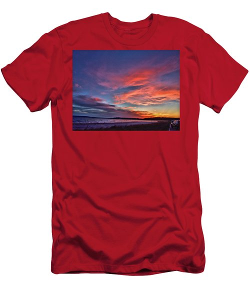 Spring Sunset Men's T-Shirt (Athletic Fit)
