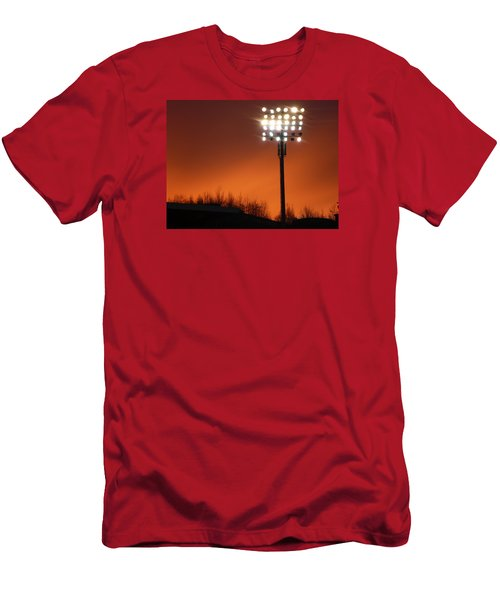 Men's T-Shirt (Slim Fit) featuring the photograph Stadium Lights by RKAB Works
