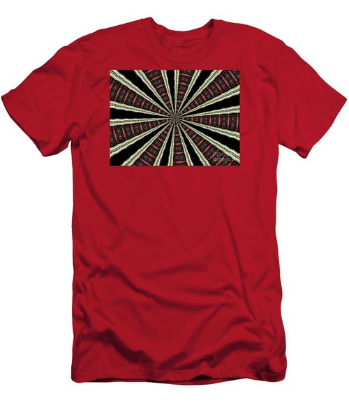 Men's T-Shirt (Slim Fit) featuring the photograph Stained Glass Kaleidoscope 14 by Rose Santuci-Sofranko