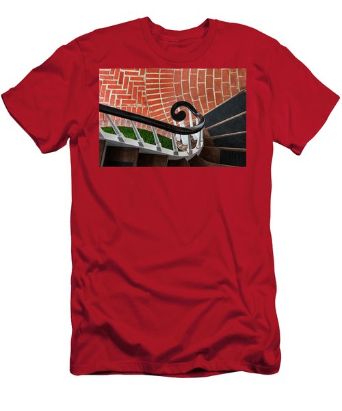 Staircase To The Plaza Men's T-Shirt (Slim Fit) by Gary Slawsky