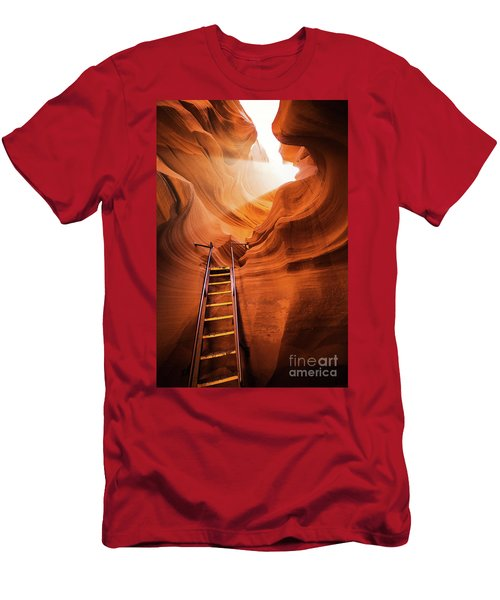 Stairway To Heaven Men's T-Shirt (Slim Fit) by JR Photography