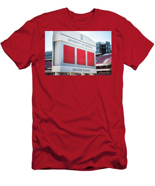 Men's T-Shirt (Slim Fit) featuring the photograph Standing Tall Over Sanford Stadium  by Parker Cunningham