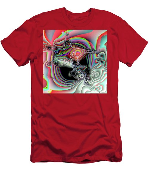 Men's T-Shirt (Slim Fit) featuring the digital art Star Defomation by Ron Bissett