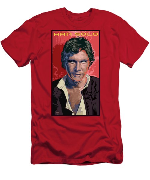 Star Wars Han Solo Pop Art Portrait Men's T-Shirt (Athletic Fit)