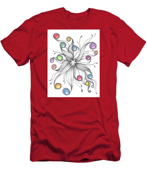 Men's T-Shirt (Athletic Fit) featuring the drawing Starburst by Jan Steinle