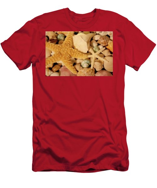 Men's T-Shirt (Athletic Fit) featuring the photograph Starfish And Seashells by Angie Tirado