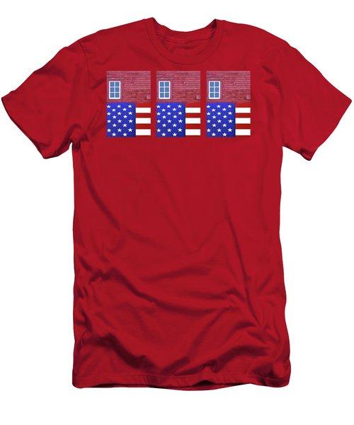 Stars And Stripes - Rural Abstract - 1 - Mug  Men's T-Shirt (Athletic Fit)