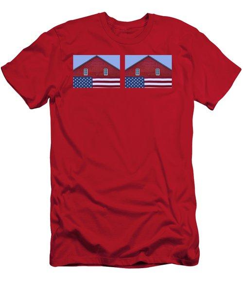 Stars And Stripes - Rural Abstract - 2 - Mug Men's T-Shirt (Athletic Fit)