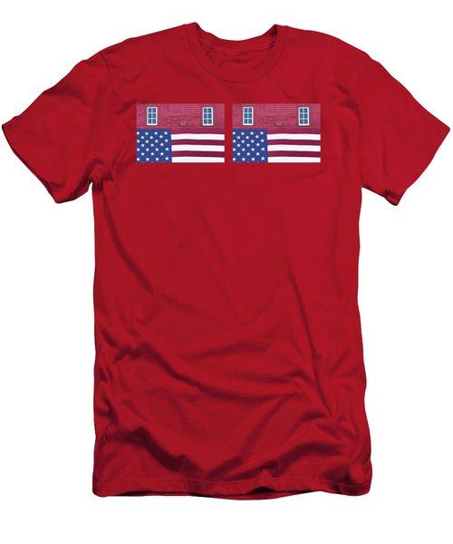 Stars And Stripes - Rural Abstract - 3 - Mug Men's T-Shirt (Athletic Fit)