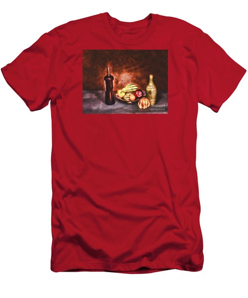 Men's T-Shirt (Slim Fit) featuring the photograph Still Life  ... by Chuck Caramella