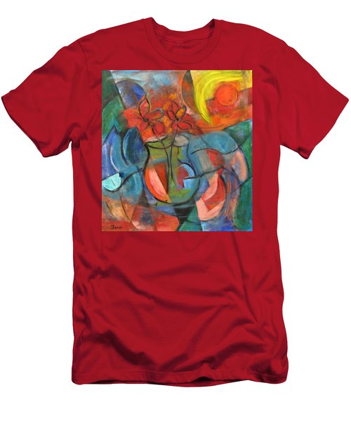 Still Life-flowers With Fruit Men's T-Shirt (Athletic Fit)