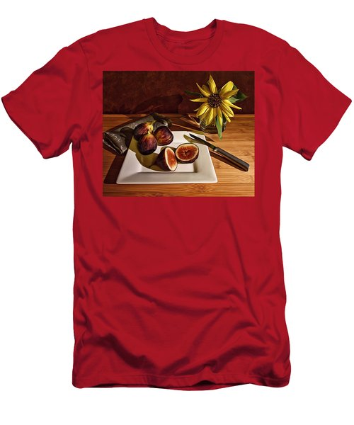 Still Life With Flower And Figs Men's T-Shirt (Athletic Fit)