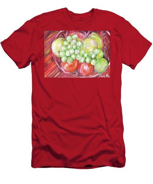 Still Life With Fruits. Harvest Time.painting  Men's T-Shirt (Athletic Fit)