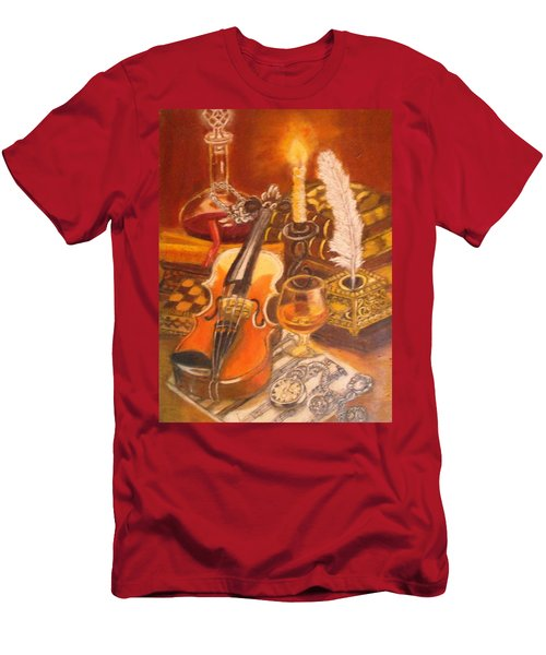 Still Life With Violin And Candle Men's T-Shirt (Athletic Fit)
