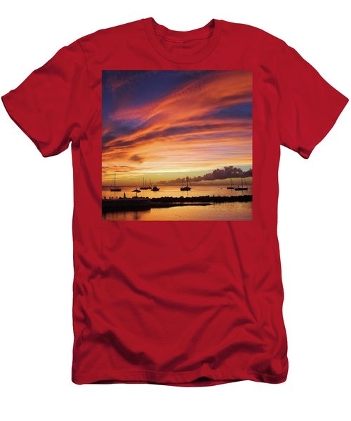 Store Bay, Tobago At Sunset #view Men's T-Shirt (Athletic Fit)