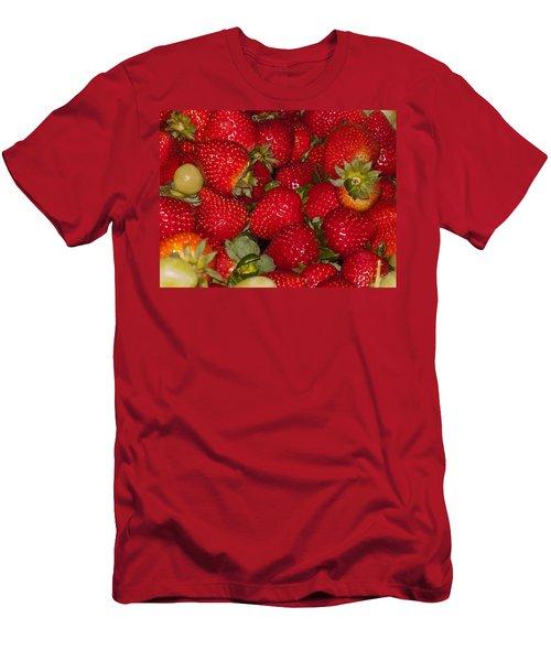 Strawberries 731 Men's T-Shirt (Slim Fit) by Michael Fryd