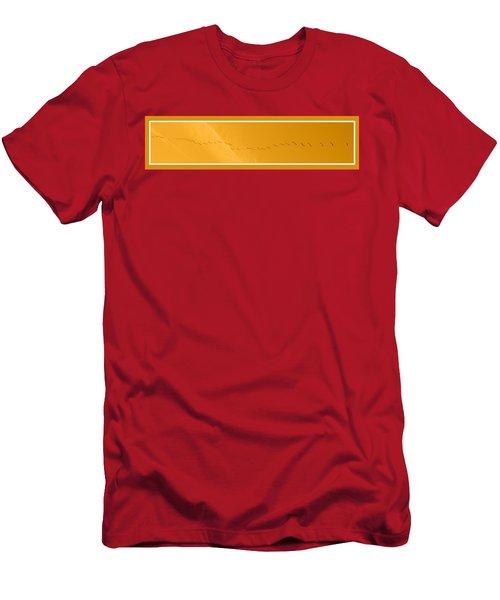 String Of Birds In Orange Men's T-Shirt (Athletic Fit)
