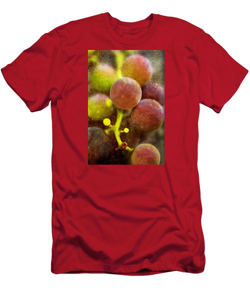 Men's T-Shirt (Slim Fit) featuring the photograph Summer Grapes by Tom Singleton