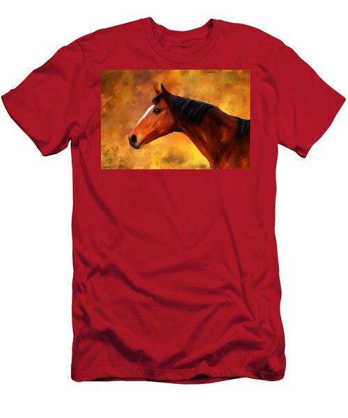 Summers End Quarter Horse Painting Men's T-Shirt (Athletic Fit)
