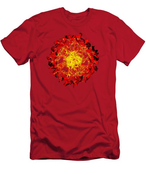Sun Abstract Art By Kaye Menner Men's T-Shirt (Slim Fit) by Kaye Menner