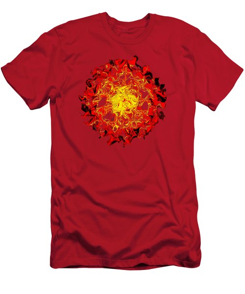 Sun Abstract Art By Kaye Menner Men's T-Shirt (Athletic Fit)