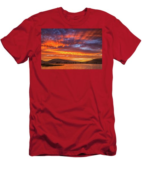 Sun Rays At Sunset Men's T-Shirt (Athletic Fit)