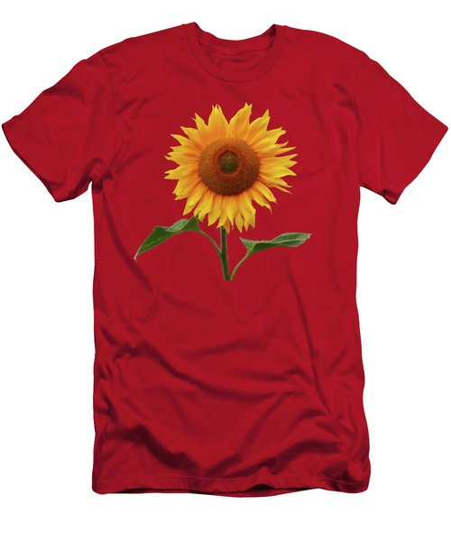Sunflower And Red Sunset Men's T-Shirt (Athletic Fit)
