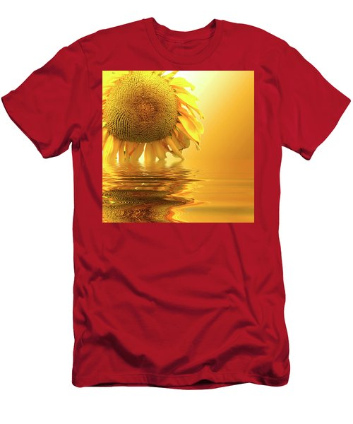 Sunflower Sunset Men's T-Shirt (Slim Fit) by David French