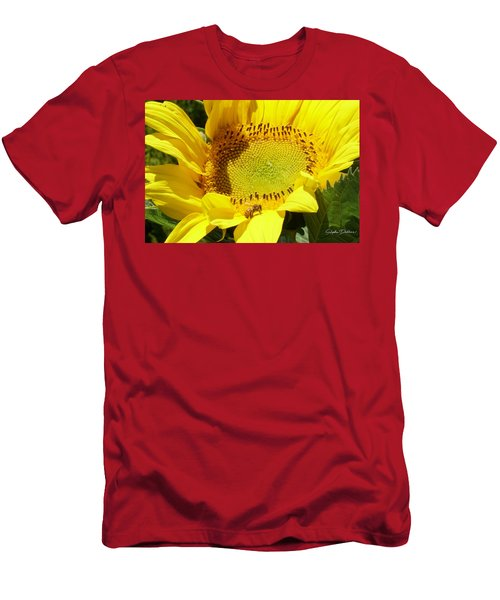 Sunflower With Honeybee Men's T-Shirt (Athletic Fit)