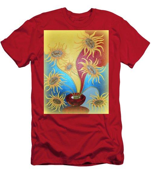 Sunflowers Symphony Men's T-Shirt (Slim Fit) by Marie Schwarzer