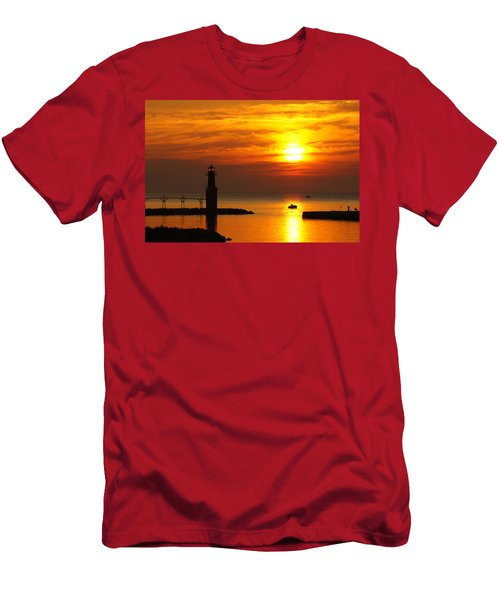 Sunrise Brushstrokes Men's T-Shirt (Athletic Fit)