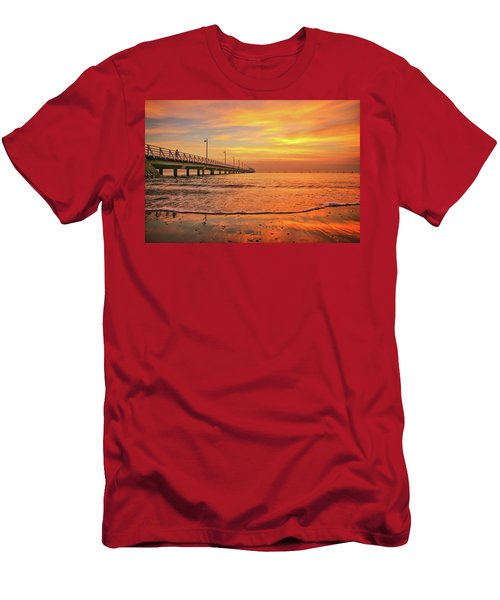 Sunrise Delight On The Beach At Shorncliffe Men's T-Shirt (Athletic Fit)