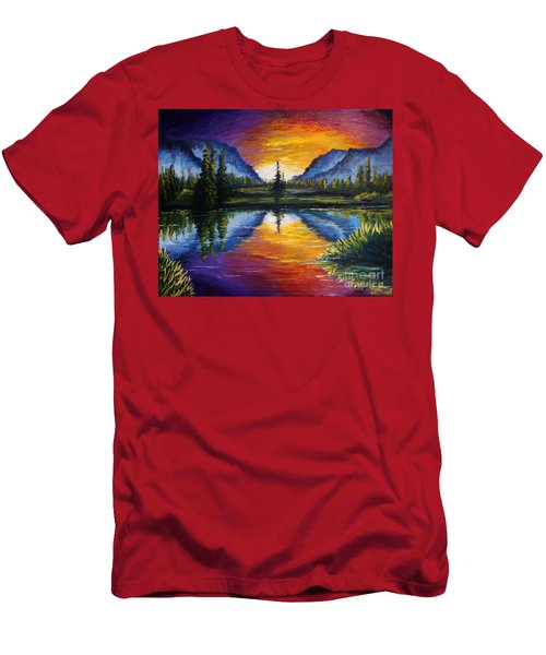 Sunrise Of Nord Men's T-Shirt (Athletic Fit)