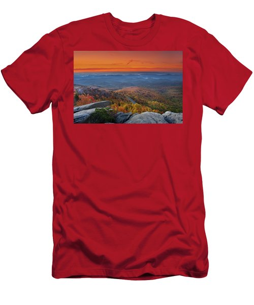 Sunrise On Rough Ridge  Men's T-Shirt (Athletic Fit)
